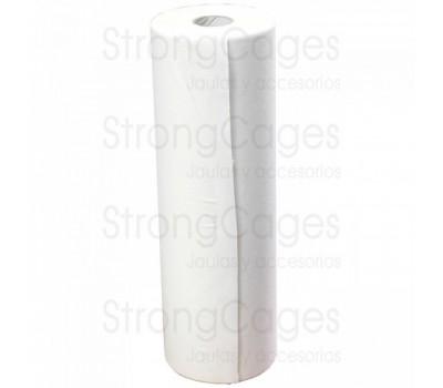 Papel rollo blanco 40 cm para jaulas Economy
