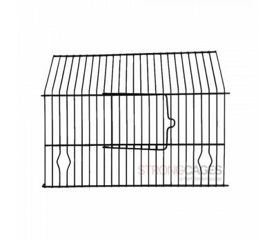 Frontal para jaula de concurso PEDROS con puerta en negro