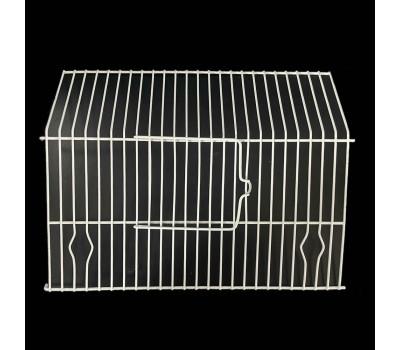 Frontal para jaula de concurso PEDROS con puerta en blanco
