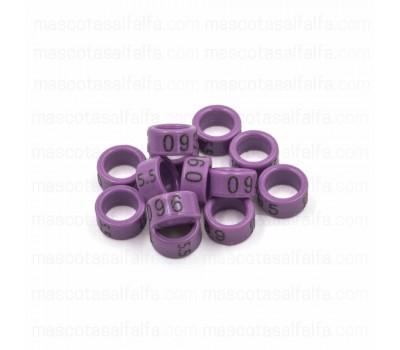 Ninfas / Anillas Grabadas con año y numeradas de carbono 5,5mm