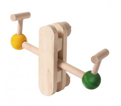 Vagoneta madera juguete agapornis