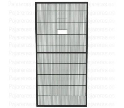 Panel de malla de voladero con puerta guillotina antracita