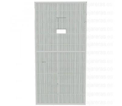Panel de malla de voladero con puerta guillotina blanco