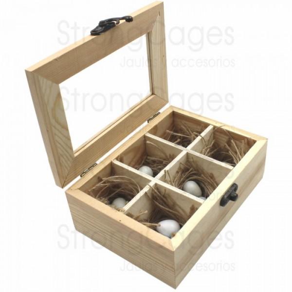 Caja para guardar huevos Canarios Inicio