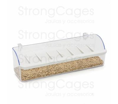 Comedero pajarera con ganchos de plastico