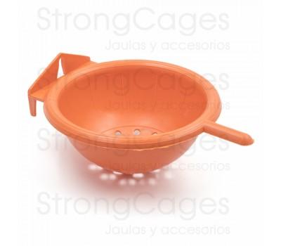Nido border naranja con posadero