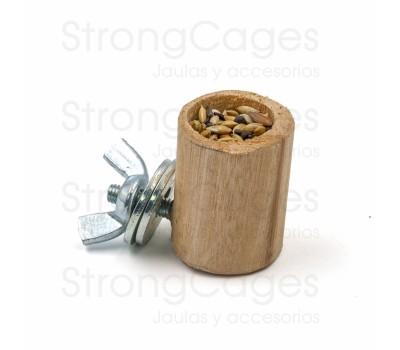 Dedal semillero de madera