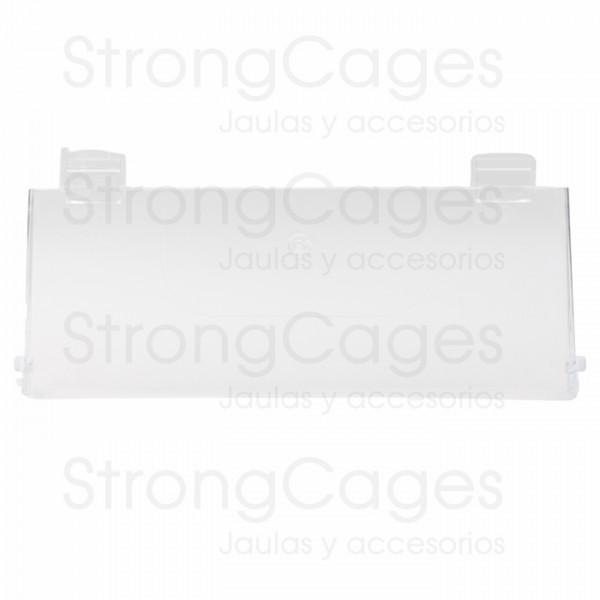 Tapa frontal para cajón transparente