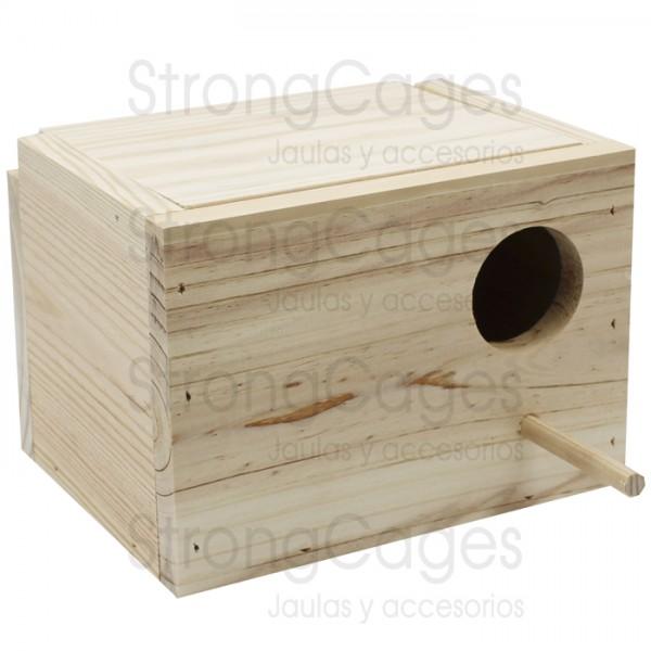 Wooden Nest Agaporni Horizontal