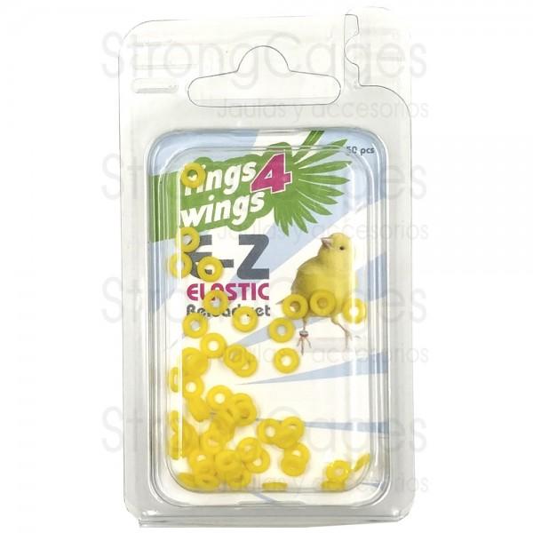 Anilla elástica 3 mm - Amarilla (50 unds)