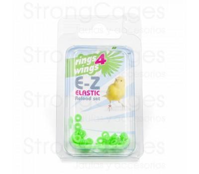 Anilla elástica 3 mm - Verde (50 unds)