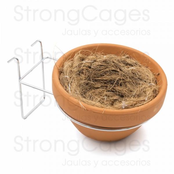 Conjunto nido barro jilguero