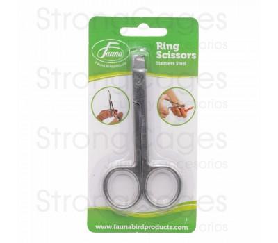 Tijera corta anillas para canarios Fauna