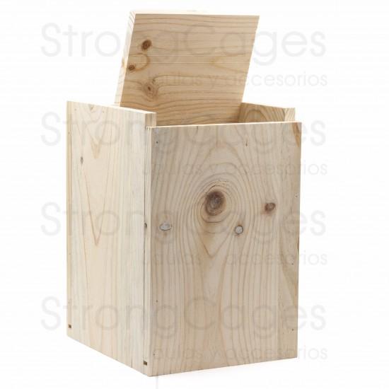 Nido de madera para Agaporni Vertical