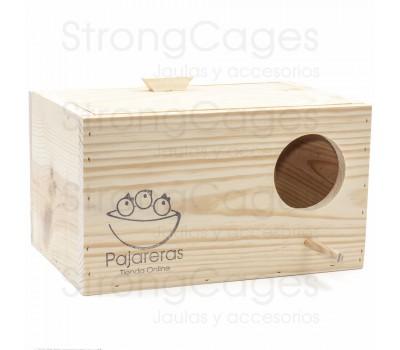 Nido de madera horizontal para ninfas