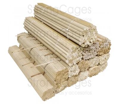 Palo de madera de pino para canarios