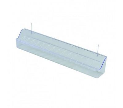 Comedero transparente para voladero con alambre